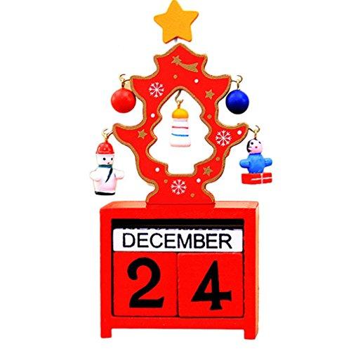 Naisidier Unico Calendario dell' avvento Calendario in Legno, Decorazioni per la casa Ornamenti Regali Artificiale Craft Decorazione Artistica da Giardino casa Cucina Decorazione Natalizia