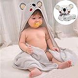 YZNlife Babyhandtuch mit Koala Kapuze, Baby Badetücher Kinderhandtuch Kapuzenbadetuch, Bambus Kapuzenhandtuch Kleinkinder Bademantel, Kinder-Badehandtuch Kinder Handtuch für Neugeborene Babys