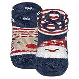 Ewers 2er Pack Weihnachtssocken Newborn Babysocken für Jungen und Mädchen Weihnachten, MADE IN EUROPE, Baumwolle Baby Socken Erstling