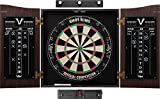 Viper Vault Cabinet & Shot King Sisal/Bristle Dartboard Ready-to-Play Bundle: Elite Set (Shot King Dartboard, Darts,...
