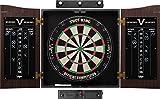 Viper Vault Cabinet & Shot King Sisal/Bristle Dartboard Ready-to-Play Bundle: Elite Set (Shot King Dartboard, Darts, Shadow Buster and Laser Throw Line)