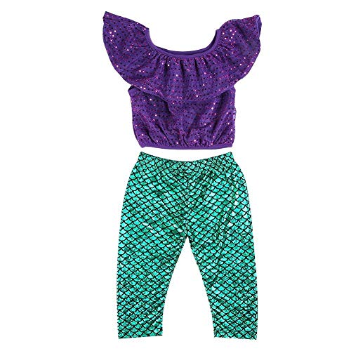 Baby Badeanzug Set 3 Teile Baby Mädchen Runde Punkte Pailletten Hemd Hosen mit Stirnband Badeanzug Kleidung Sets(110)