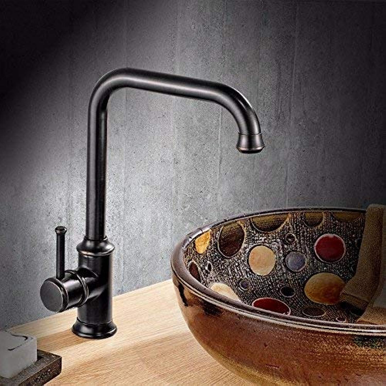 Küchen-Mischbatterie Schwarzes Messing kaltes und kaltes Wasser Spülbecken-Mischbatterie Waschtisch-Waschtisch-Mischbatterie Waschtisch-Mischbatterie Waschtisch-Mischbatterie ( Farbe   - , Gre   - )