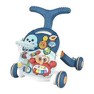 SLCE Correpasillos Andandín 3 En 1, Diseño Mejorado, Andador Bebé Interactivo Plegable Y Regulador De Velocidad, Andador, Correpasillos Bebé +6 Meses