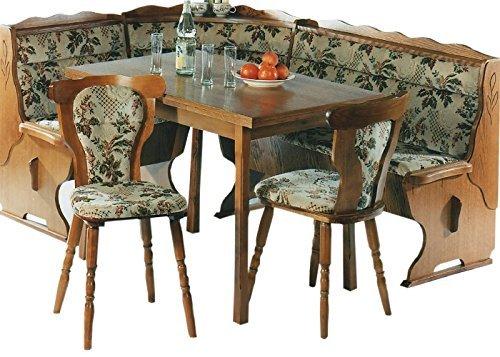 ambiato Kücheneckbankgruppe Eckbankgruppe Eiche rustikal P43 Eckbank ausziebarer Tisch 2 Stühle Lieferung in die Wohnung