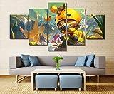 65Tdfc Leinwanddrucke 5 Panel Legends Teemo Spiel Leinwand Gedruckte Malerei Für Wohnzimmer...
