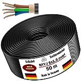Cable de alimentación subterráneo, 25 m o 50 m, NYY-J 5 x 1,5 mm², cable eléctrico anillo para insta...