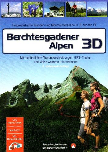 Berchtesgadener Alpen 3D. Für Windows Vista / XP / 2000: Fotorealistische Wander- und Mountainbikekarte in 3D für den PC. Tourenbeschreibungen - Hütten - Orte - Berggipfel - Seen und vieles mehr