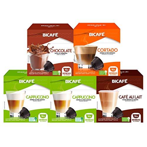 80 Cápsulas Para Dolce Gusto - 5 Caixas - Kit Bebida - Cápsula Bicafé