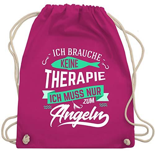 Shirtracer Angeln - Ich brauche keine Therapie Angeln - Unisize - Fuchsia - WM110 - Turnbeutel und Stoffbeutel aus Bio-Baumwolle