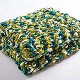 Somnrchun Deckenschläfer for den Winter Babydecke Handgestricktes Haus mit Fotografie Requisiten Freizeit Leichter Sofabezug Geeignet for Zuhause (Color : Green)