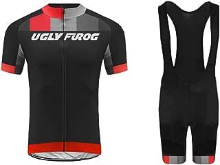 Uglyfrog Conjunto Ropa Equipacion Set, Maillot Ciclismo y Culotte Ciclismo con 5D Gel Pad para Verano Deportes al Aire Libre Ciclo Bicicleta ESH19DJT10