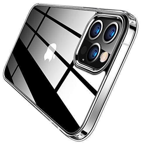 TORRAS 高透明 iPhone 12 Pro Max 用 ケース 薄型 耐衝撃構造 黄変防止 PCハード背面 TPUバンパー 米軍規格 2020年6.7インチ アイフォン12 Pro Max用カバー スタイルクリア
