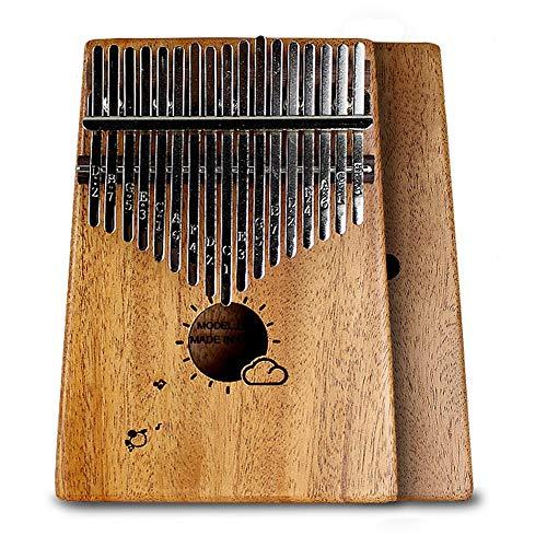 HXiaDyG Daumen Klavier Vogel-Muster 17 Keys Mbira Voll Furnier Mahagoni Daumenklavier Einfach zu erlernen for Kinder Erwachsene Tragbares Daumenklavier (Color : Brown, Size : One Size)