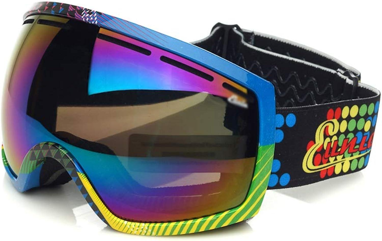Feng Xu Skibrillen - PC, doppelt Anti-Fog, rutschfestes Silikon, Silikon, Silikon, große sphärische Oberfläche, kann in Myopie-Brille, High-Density-Schwamm, Erwachsene Multi-Farbe-Universal-Ski und Bergsteigen Brille W B07Q6KLQFX  Wunderbar d1dee1