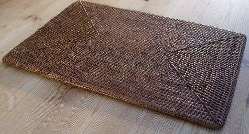 Rattan-Tischset, länglich/rechteckig