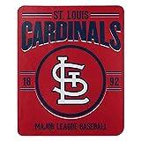 Northwest MLB St. Louis Cardinals 50x60 Fleece Southpaw DesignBlanket, Team Colors, One Size (1MLB031030027RET)