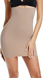 Half Slips for Women Under Dress High Waist Tummy Control Top Shapewear Slimming Butt Lifter