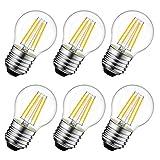 LED電球 E26口金 40W形相当 470lm フィラメント電球 シャンデリア 2700K 電球色 G45ミニ電球 エジソン電球 レトロ PSE 3年保証 6個入 調光器非対応