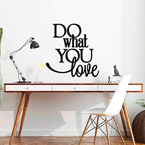 yaonuli Tun Sie Ihr Lieblingsfenster Wandaufkleber Vinyl Zitat Wandtattoo Büro Zitat Aufkleber Büro Wandkunst inspirierende Wand 63X63cm
