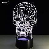 Solo 1 pieza Lámpara de mesa LED Increíble luz de ilusión 3D Luz de noche Color diferente es ajustable () Regalo de niños de Halloween Partys