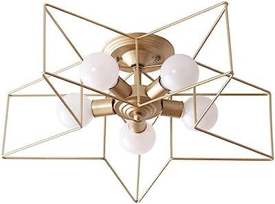 Amazon.com: LgoodL Lámpara de techo de hierro forjado, LED ...