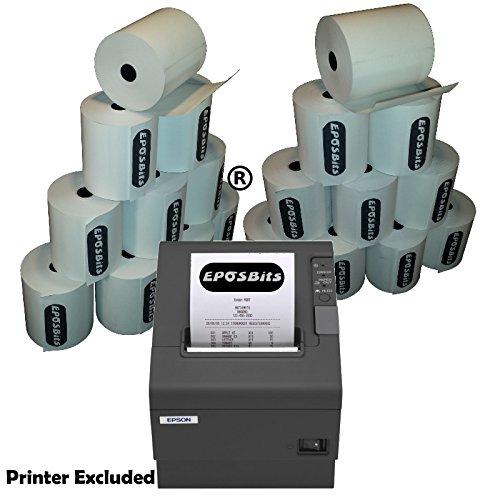 Eposbits/® marca 30/rotoli + 2/cartucce di inchiostro * to fit Epson TM U220/tm-u220/TMU220/Epos ricevuta stampante * Essentials Pack