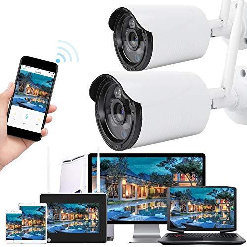 Cámara WiFi de seguridad para exteriores de 7 pulgadas WiFi NVR inalámbrica con monitor de seguridad impermeable y visión nocturna 110-240 V