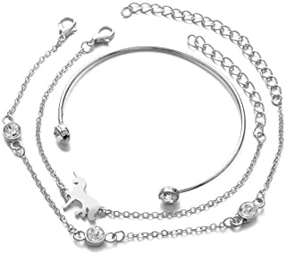 Minimalist Style Bracelet Set Unicorn Three-piece Suit Women's Bracelet Set
