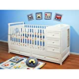 AFG Athena Daphne 3-in-1 Fixed-Side Crib and Changer Combo /Model:662C /color:White