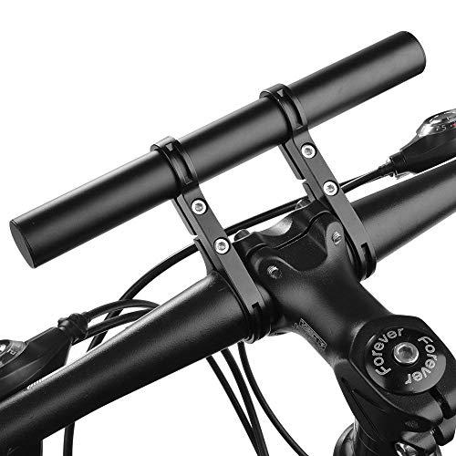 Micovay Fahrrad Extender Halterung Taschenlampe Halter Lenker, 20.2cm Aluminiumlegierung Extension Mount Halter Space Saver mit Doppelklemmen, Halterung für Fahrrad LED-Licht, GPS, Telefon, Tacho