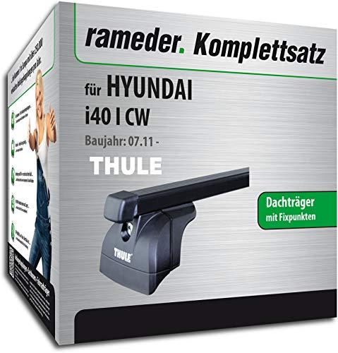 Rameder Set, Dachträger SquareBar kompatibel für Hyundai i40 I CW (116221-09650-1)