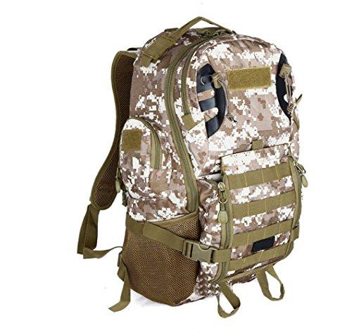 WuJiPeng Sac à Dos De Camping De Randonnée Extérieure Léger 20-35L Sac à Dos Tactique D'escalade Camouflage De Tissu D'Oxford Et Imperméable,A