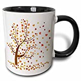 3dRose mug_62989_4'Fall Tree with Leaves' Two Tone Black Mug, 11 oz, Multicolor