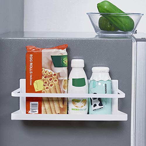OIZEN Kühlschrank Regal Hängeregal für Kühlschrank Magnet Gewürzregal mit Ablage Küchenregal Küchen Organizer Aufbewahrung