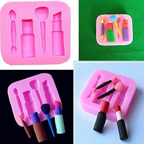 Alikeey Kookaccessoire, voor het maken van lippenstift, cakevorm, 3D, silicone, zeep, chocolade, snoepgoed, bakvormen, geschikt voor restaurants, gezinnen