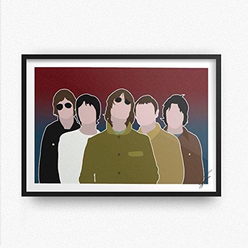 Von Oasis inspirierte Illustration.
