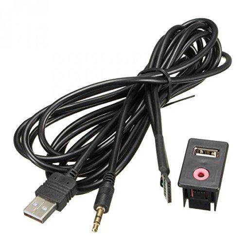 Desconocido USB AUX Adaptador de Enchufe 3,5 mm Jack Cable de Extensión para Salpicadero del Coche