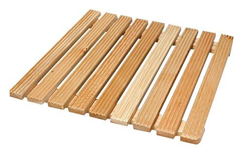 Acquastilla 116887 vierkante douchewand van hout, meerkleurig