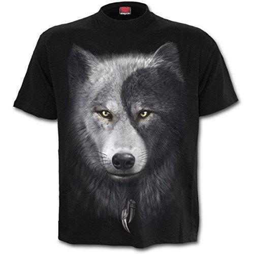 Spiral Wolf Chi Camiseta Negro M