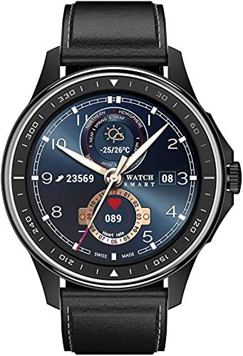 JSL Reloj inteligente con monitor de ritmo cardíaco de llamada Bluetooth, pantalla táctil de 1 3 pulgadas, rastreador de actividad IP68