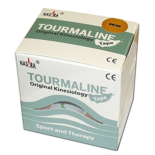 Nasara Turmalin Kinesiologie Tape, 5 cm x 5 m, beige