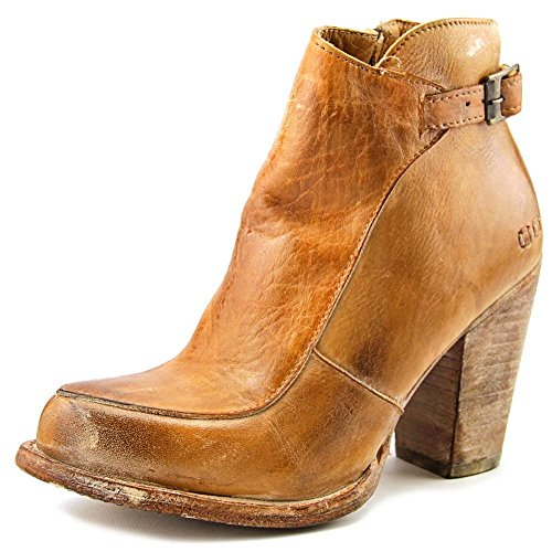 Bed|Stu Isla Womens Leather Boots, Tan Rustic White Bfs, Size 8.5