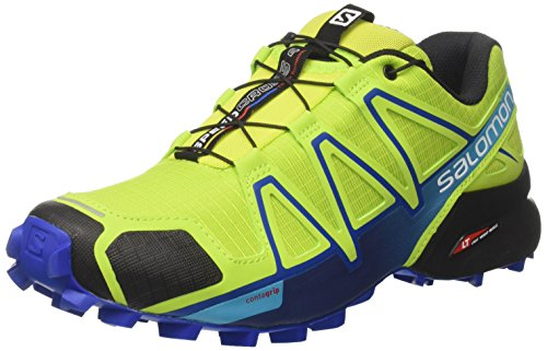 Salomon Herren Speedcross 4 Traillaufschuhe, Grün (Lime Green/Nautical Blue/Hawaiian Ocean 6), 42 2/3 EU