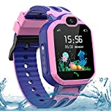 LDB Direct Kids Smart Watches for Boys Girls, Waterproof GPS/LBS Tracker Smart Watch Gift Birthday Christmas for 3-12 Year Old Kids with SOS Call Two-Way Call Voice Chat Game Flashlight (Pink)