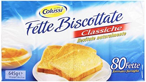 Colussi - Fette Biscottate, Classiche, Lievitate Naturalmente - 645 G 80 Pezzi