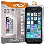 Electrónica Rey 3X Protector de Pantalla para iPhone 5 / 5S / 5C / SE, Cristal Vidrio Templado Premium