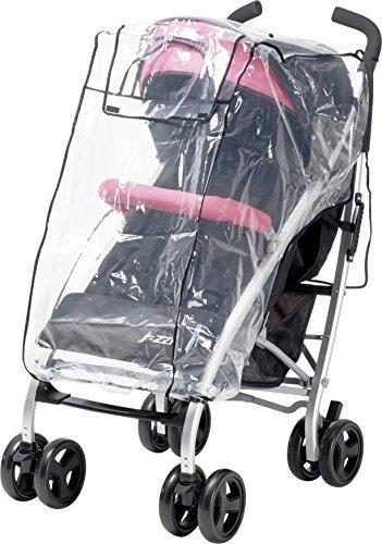 Playshoes Universal Regenverdeck für Buggy, Kinderwagen Regenhaube, mit Klettverschluss und Gummizug, transparent, one size