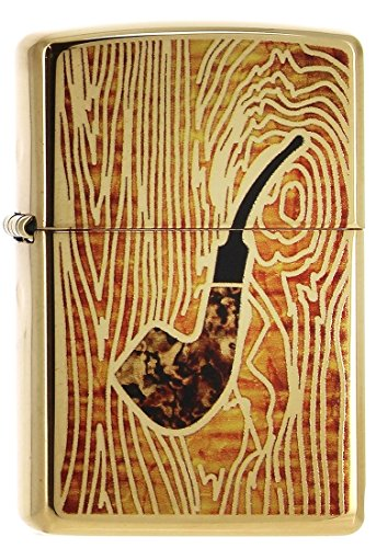 Zippo Pipe in Fuzion-Brass High Polish Lighter, Cromo, Gold, One Size