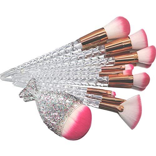 11 sirène maquillage brosse dégradé couleur Fishtail brosse à maquillage, visage Eye Shadow eyeliner liquide Fondation blush LIP poudre liquide crème mélange brosse,M